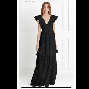 NWT✨ Rachel Zoe Violet Fil Coupe Gown, Black